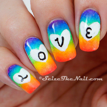 Pride Love nail art by Bella Seizethenail