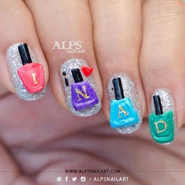 INAD Nail Art by Alpsnailart nail art by Alpsnailart