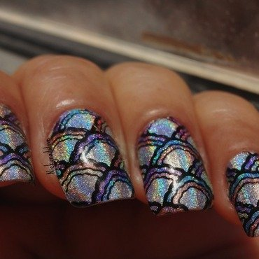 Raibow nail art by Nicky