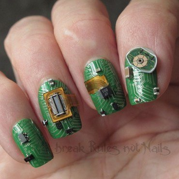 Technological nail art by Michelle
