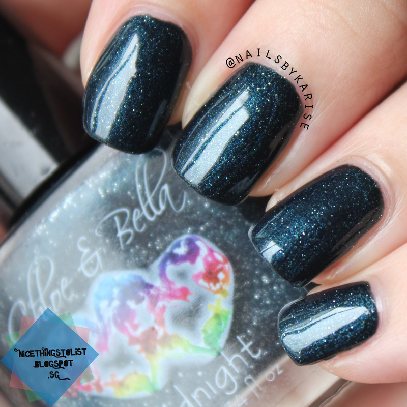 Chloe and Bella Midnight Swatch by Karise Tan