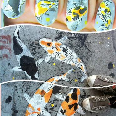 POLISHER'S INC. - Inspired by Nature nail art by Cubbiful