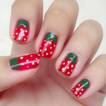 I Like You Berry Much nail art by ℐustine