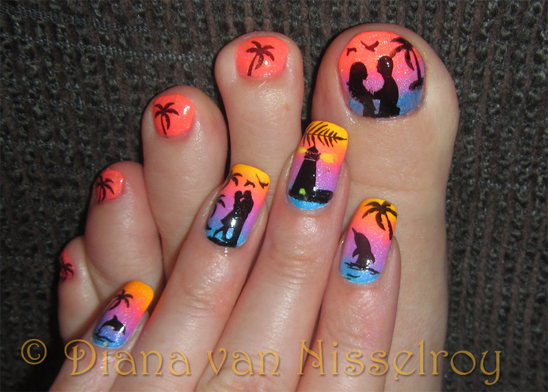 Romantic beach scenery manipedi nail art by diana van nisselroy romantic beach scenery manipedi nail art by diana van nisselroy prinsesfo Image collections