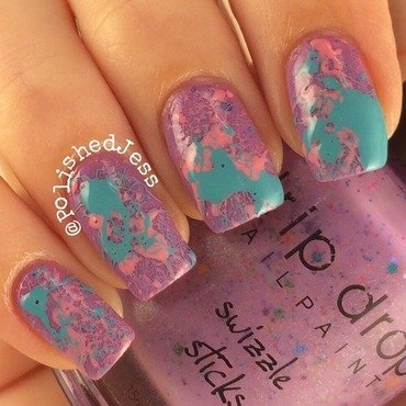 Splatter nail art by PolishedJess