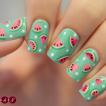 Watermelon Madness nail art by Becca (nyanails)