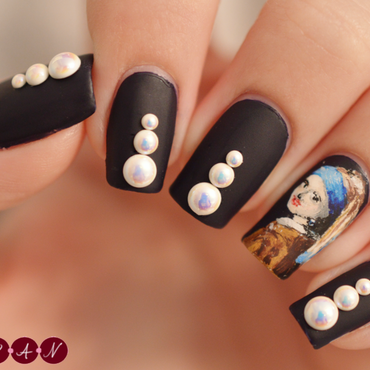 Girl With a Pearl Earring nail art by Becca (nyanails)