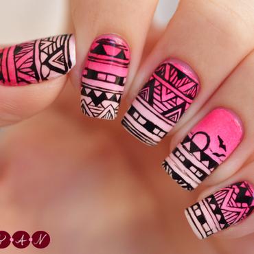 Sunset Bolevard nail art by Becca (nyanails)