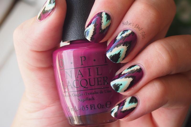 IKAT nail art nail art by Kelsie