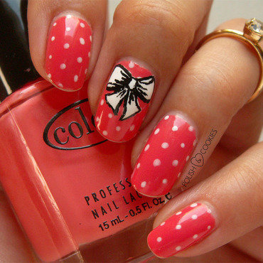 Dotticure with a twist! nail art by PolishCookie
