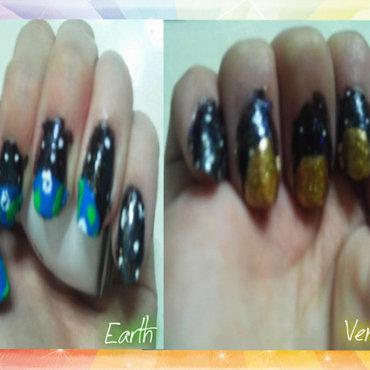 Earthe Venuse nail art by JessJar19