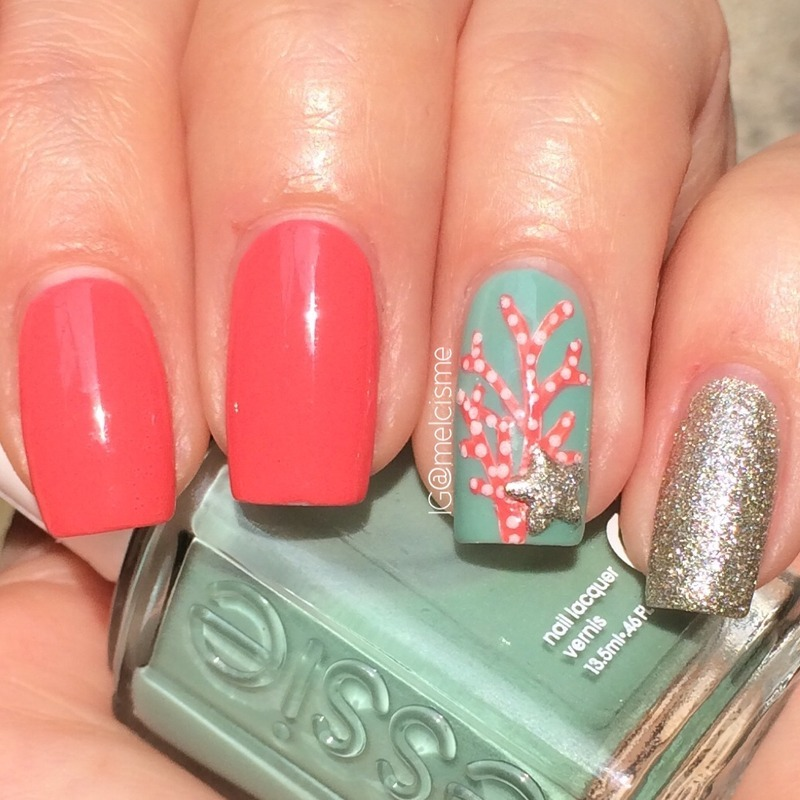 Coral Nails nail art by Melissa - Nailpolis: Museum of Nail Art