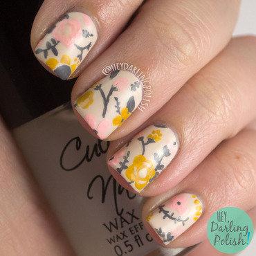 Vintage Floral nail art by Marisa  Cavanaugh