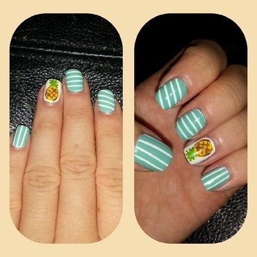 Bikini Bottom nail art by Blair