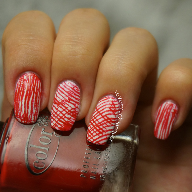 National Pride (Canada) nail art by Stephanie L