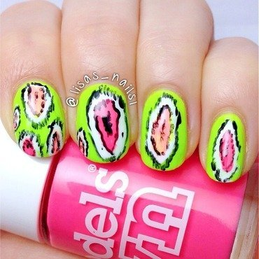 Ikat nail art  nail art by Lisa