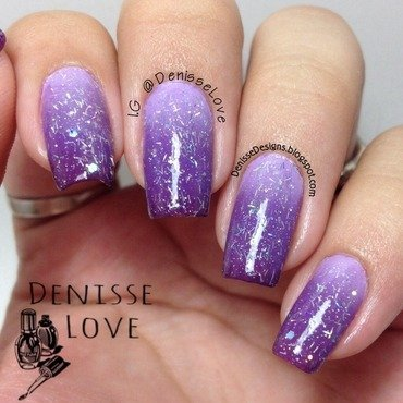 Purple ombré  nail art by Denisse Love
