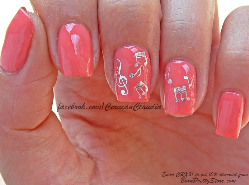 Musical Notes Nails nail art by Claudia - Nailpolis: Museum of Nail Art