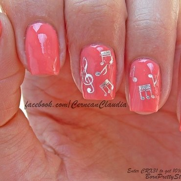 Musical Notes Nails nail art by Claudia