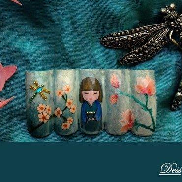 KOKESHI nail art by Dess_sure