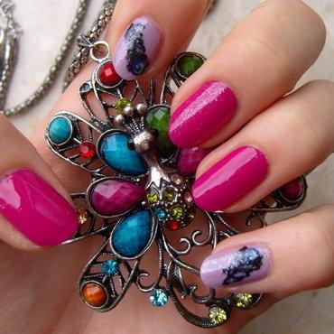 Peacock nail art by Lakierowniczka