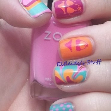 Just beachy nail art by Jenette Maitland-Tomblin