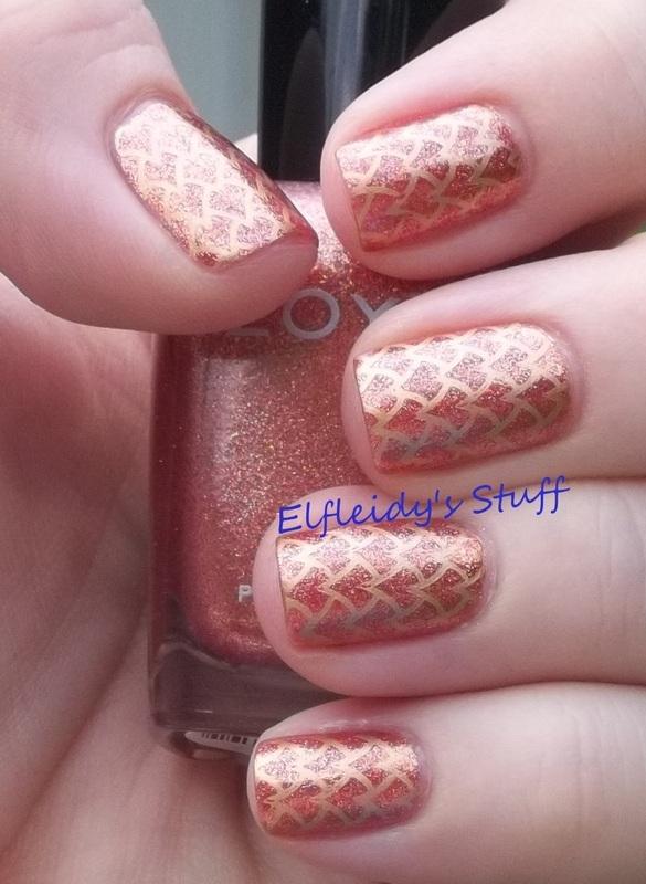 Dragon scales nail art by Jenette Maitland-Tomblin