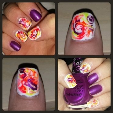 Summer Tie Dye nail art by Blair