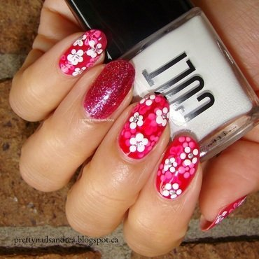 Pretty Floral (Jelly) nail art by PrettyNailsAndTea
