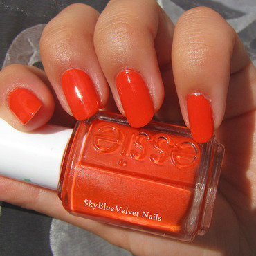 Essie Capri Swatch by Sky Blue Velvet Nails