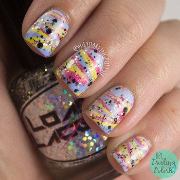 Primary Marble nail art by Marisa  Cavanaugh