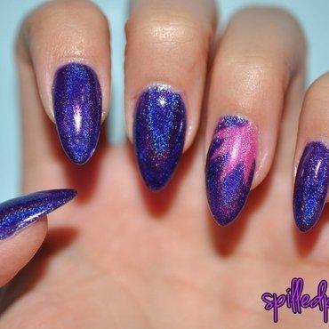 Holo Burst! nail art by Maddy S