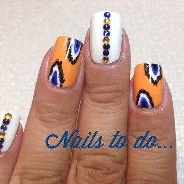Ikat sorbet nail art by Jenny Hernandez