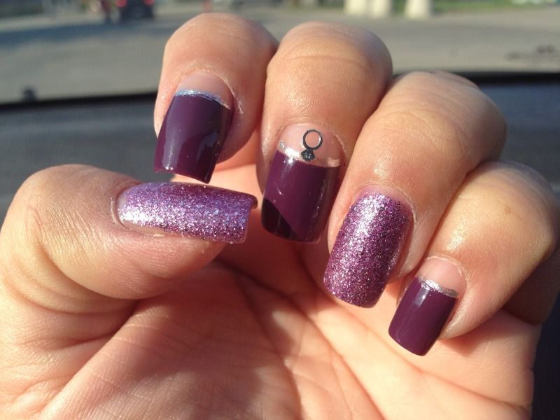 Lovely in purple nail art by Jenny Hernandez