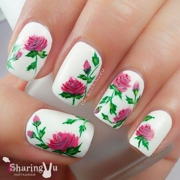 🌹🌹 roses 🌹🌹 nail art by SharingVu