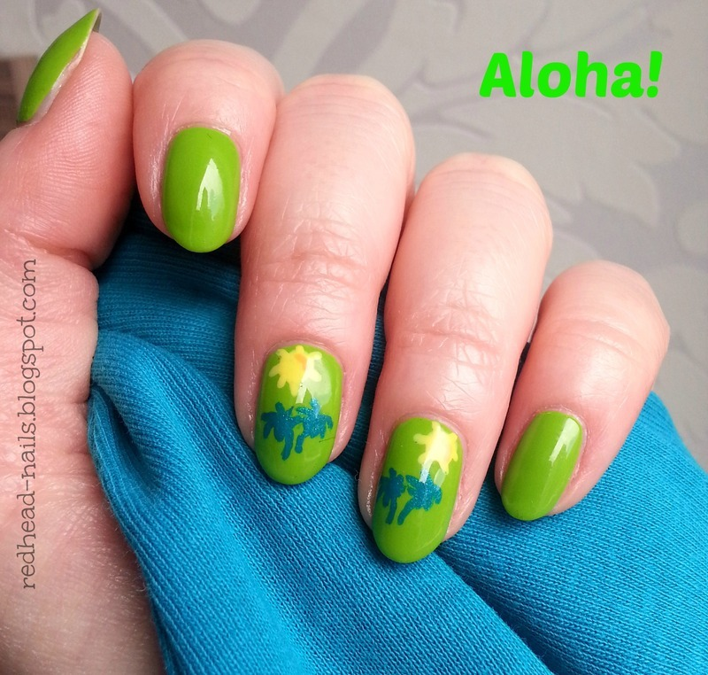 Aloha! nail art by Redhead Nails