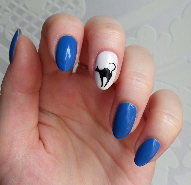 Kitty! nail art by Redhead Nails