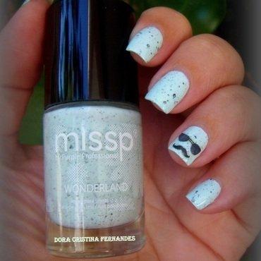 Super Mustache Style nail art by Dora Cristina Fernandes