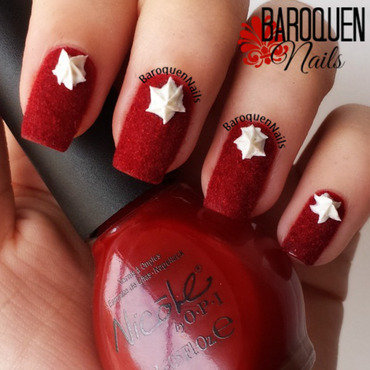 Red Velvet Cake nail art by BaroquenNails