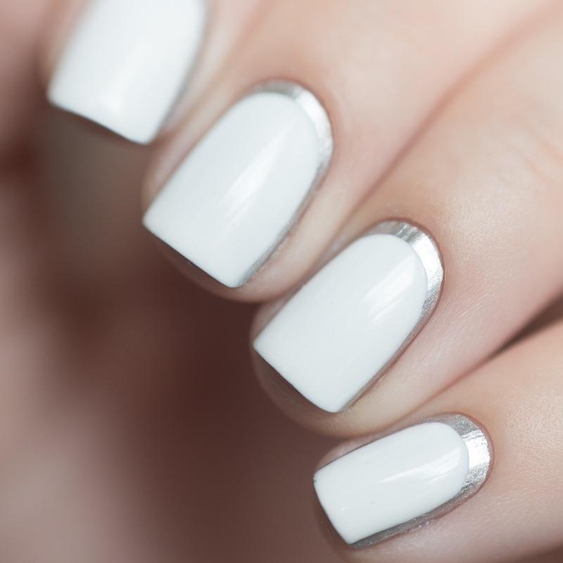 Chrome Ruffian macro nail art by Treviginti