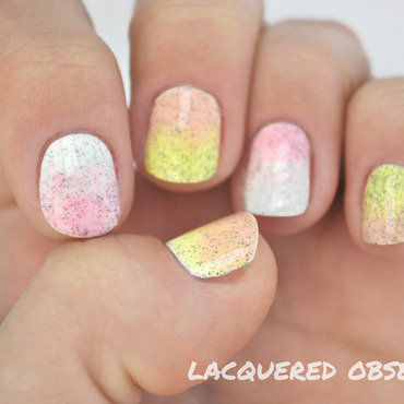 Concrete Gradient nail art by Lacquered Obsession