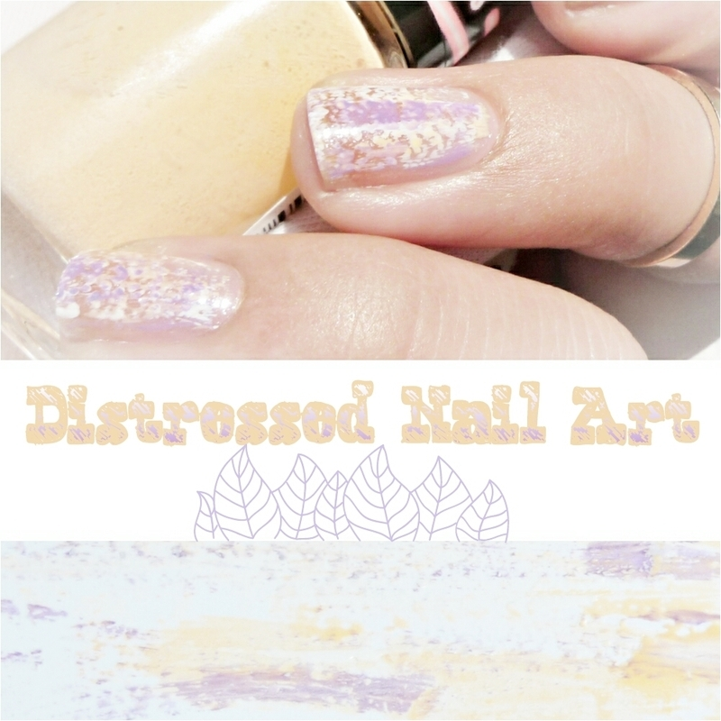 Distressed nail art by Romana