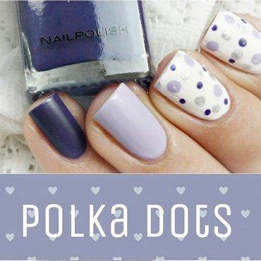 Polka Dots nail art by Romana