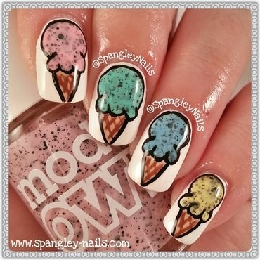 I Scream, You Scream... nail art by Nicole Louise