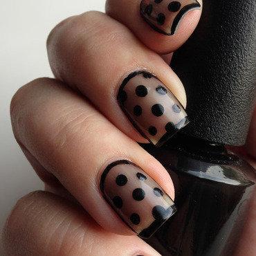 Sheer Nails nail art by Katie