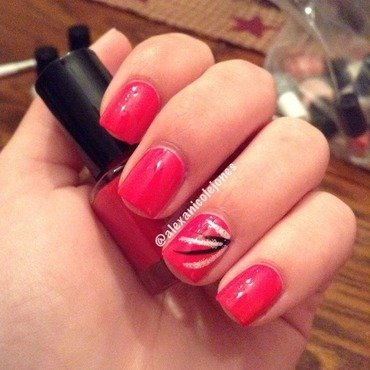 Simple Stripes nail art by Alexa Jones