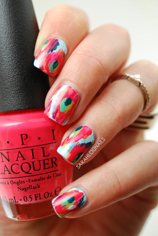 Pinterest Ikat Nails! nail art by Sarah S