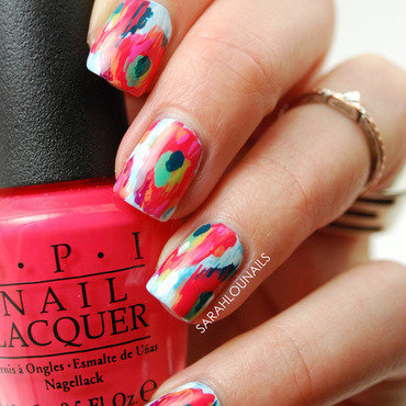 Pinterest Ikat Nails! nail art by Sarah S