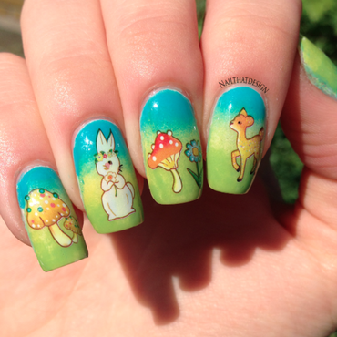 Animal Water Decals nail art by NailThatDesign