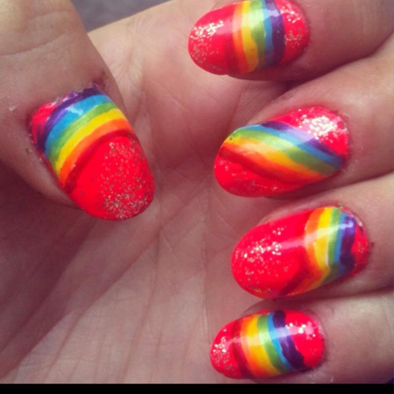 Rainbow Magic nail art by Megan Lagerson